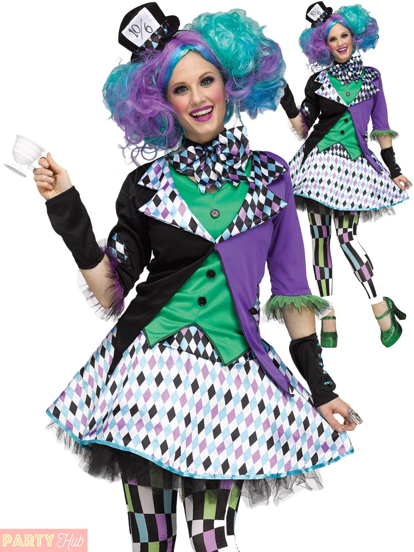 Mad Hatter Tea Party Costume Ideas  La s Mad Hatter Costume Adult Halloween Fancy Dress Tea
