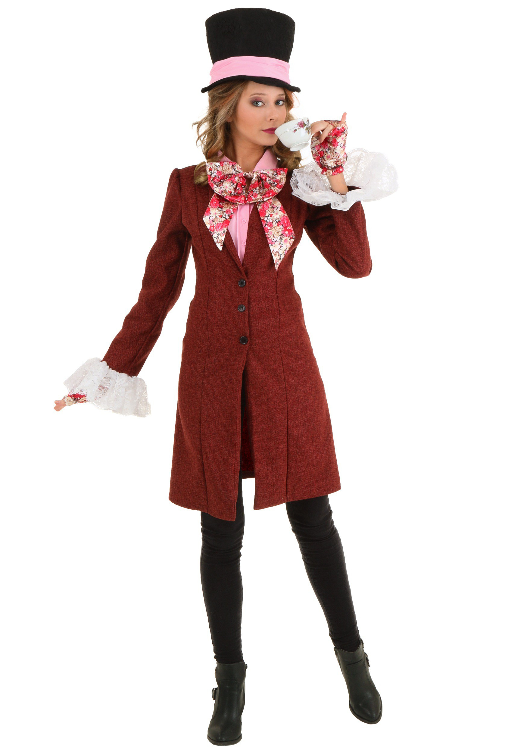Mad Hatter Tea Party Costume Ideas  Deluxe Plus Size Women s Mad Hatter Costume 1X 2X