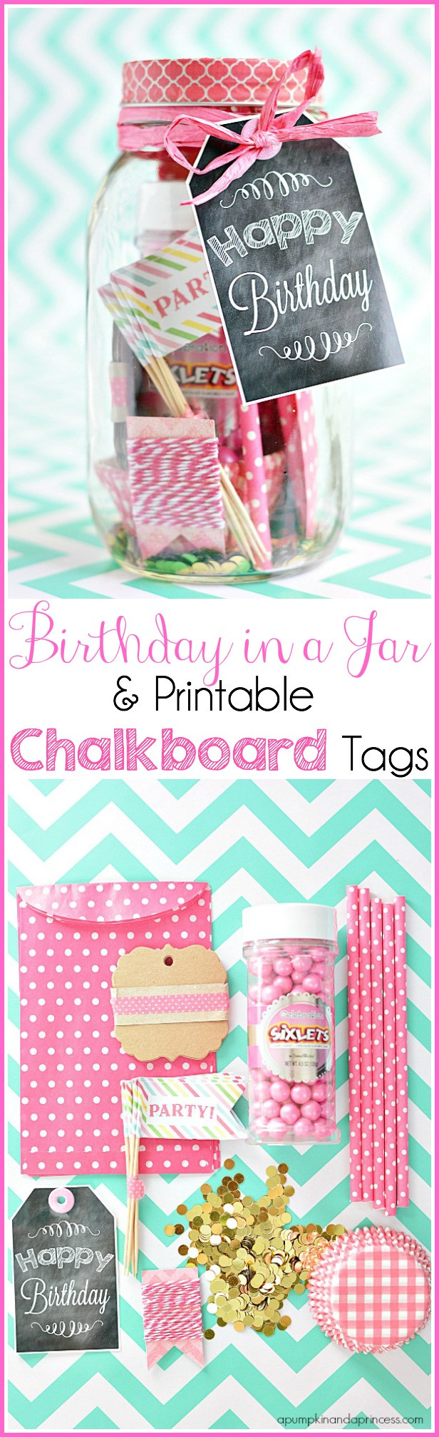 Mason Jar Birthday Gift Ideas  Birthday In A Jar Birthday Printable Tags A Pumpkin