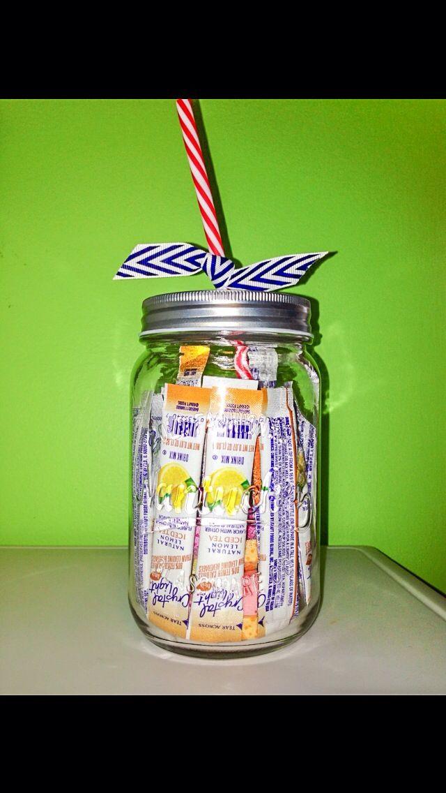 Mason Jar Birthday Gift Ideas  Birthday t idea mason jar drinking glass filled with