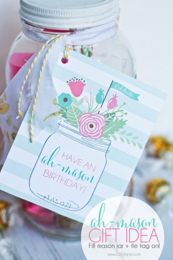 Mason Jar Birthday Gift Ideas  Ah mason birthday t idea