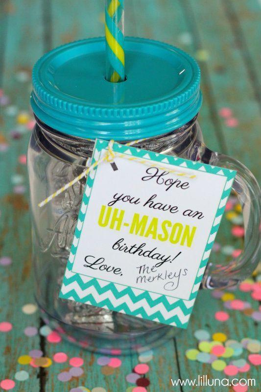Mason Jar Birthday Gift Ideas  20 Inexpensive Birthday Gift Ideas