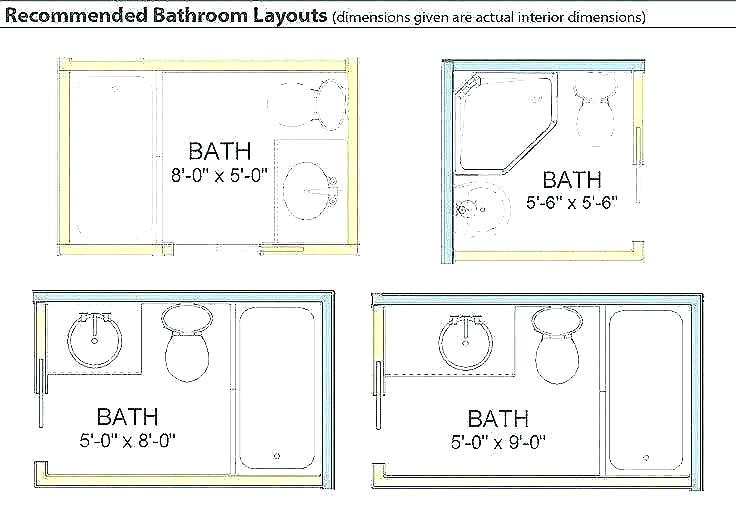Master Bathroom Dimensions  Shower Stall Dimensions