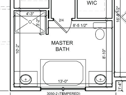 Master Bathroom Dimensions  Here are Some Free Bathroom Floor Plans to Give You Ideas