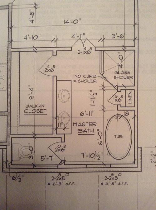 Master Bathroom Layout Plans  Master Bath layout