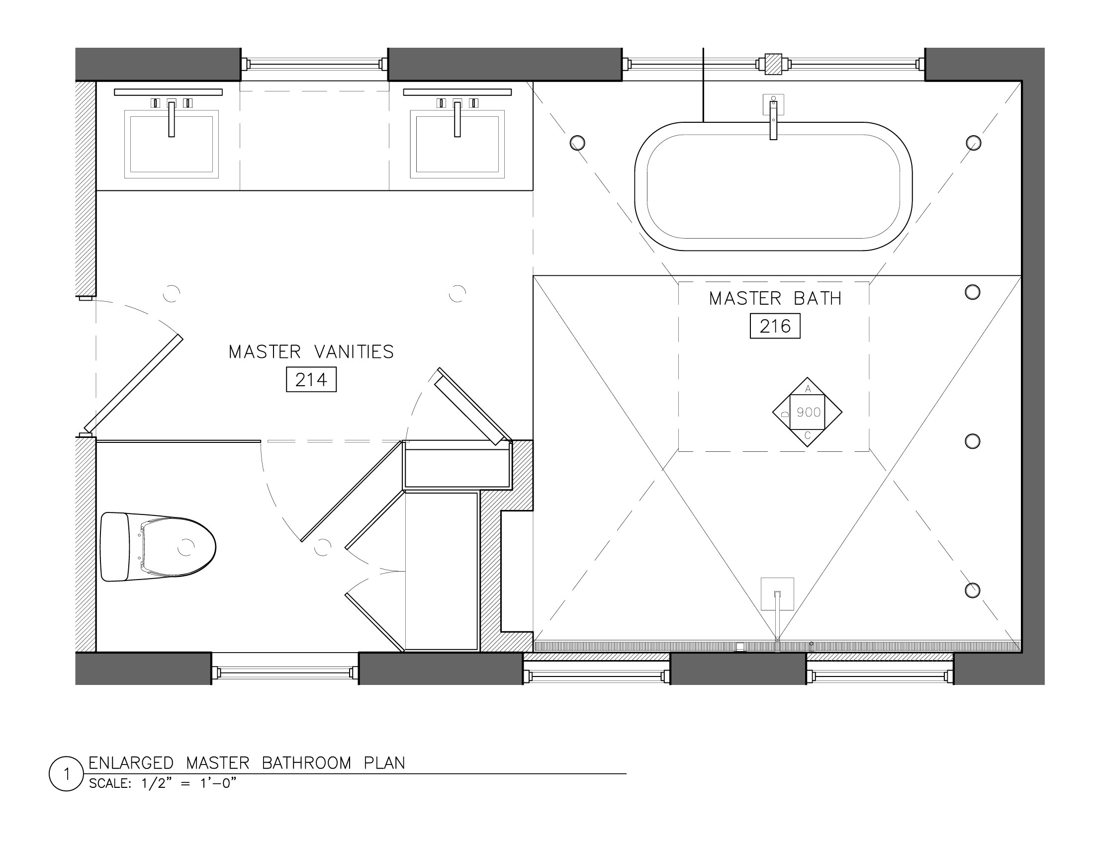 Master Bathroom Layout Plans  White Master Bath