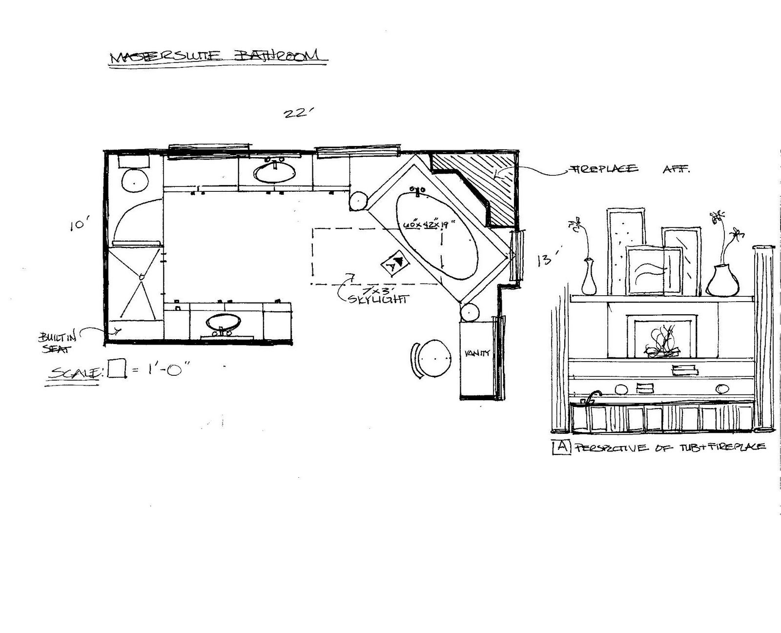 Master Bathroom Layout Plans  Awesome Master Bathroom Floor Plan Home