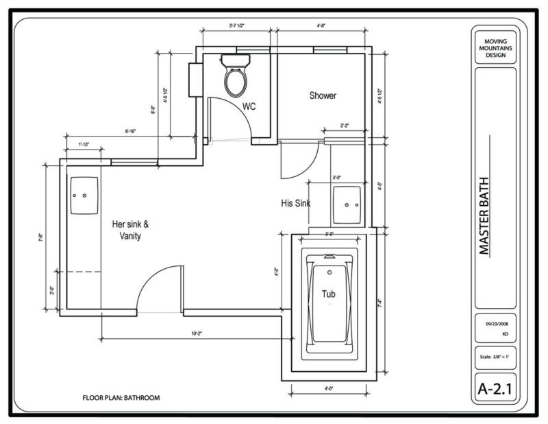 Master Bathroom Layout Plans  Hollywood Hills Master Bathroom Design Project The Design