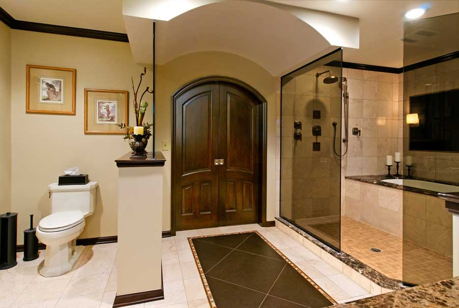 Master Bathroom Layout Plans  Bathroom fit for a King