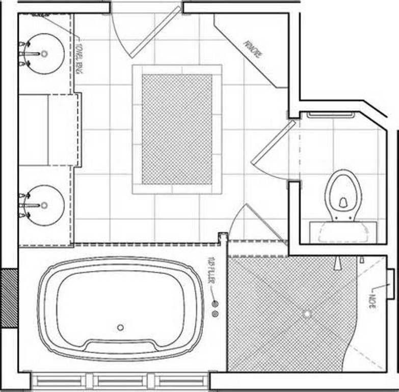 Master Bathroom Layout Plans  Master Bathroom Floor Plans Flooring Ideas