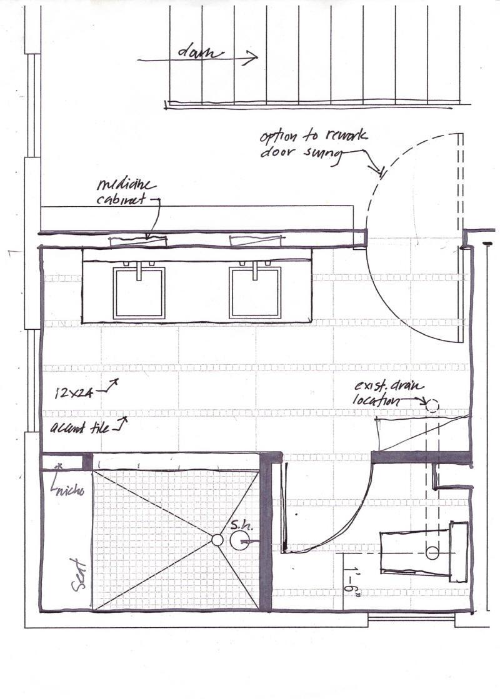 Master Bathroom Layout Plans  Indianapolis Master Bath Remodel Shed Dormer Extension