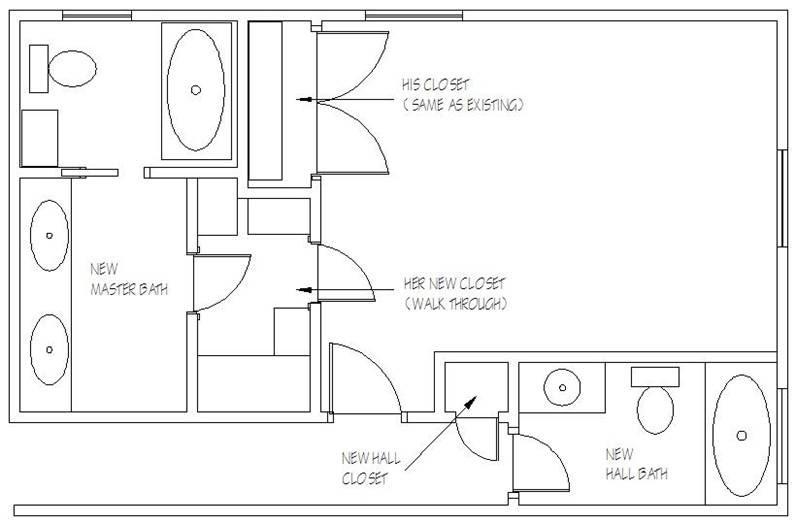 Master Bathroom Layout Plans  masterbathcloset ws1 ACORN DESIGN STUDIOS