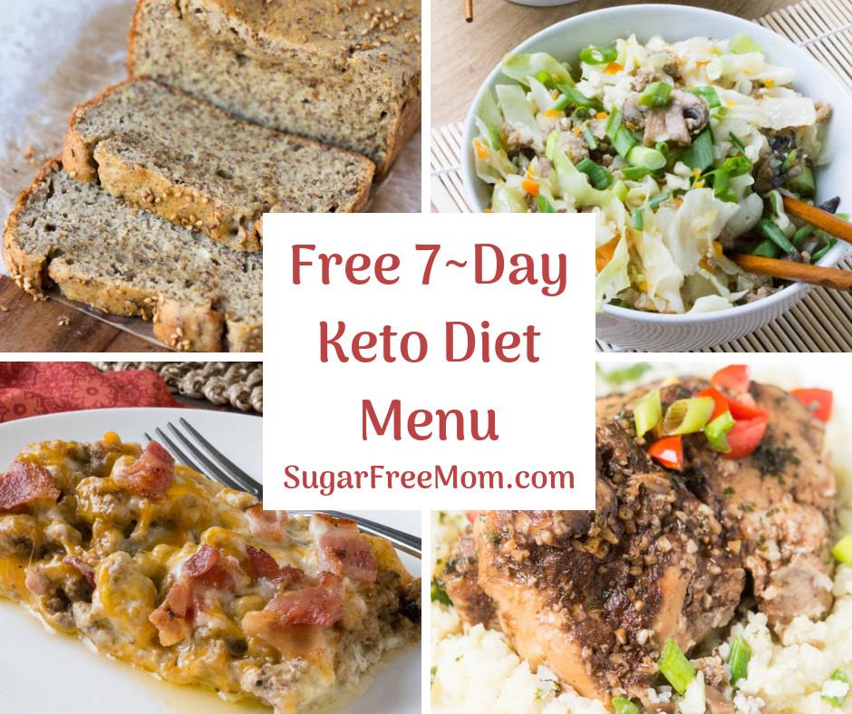 Menu For Keto Diet  FREE 7 Day Keto Diet Menu Plan