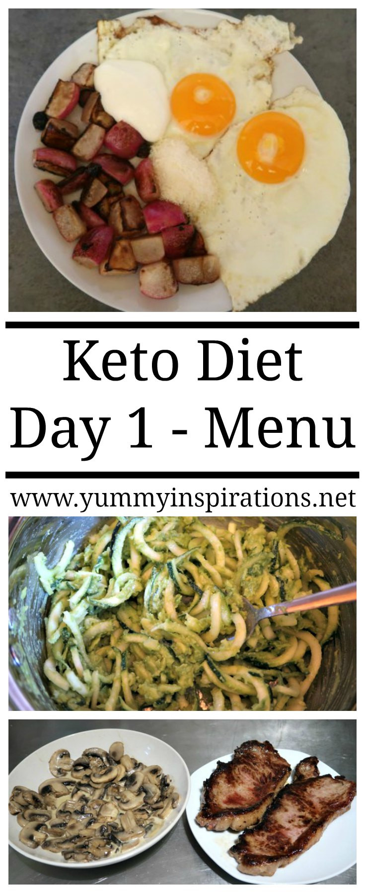 Menu For Keto Diet  Keto Day 1 Meal Plan Menu & Video Diary Day e