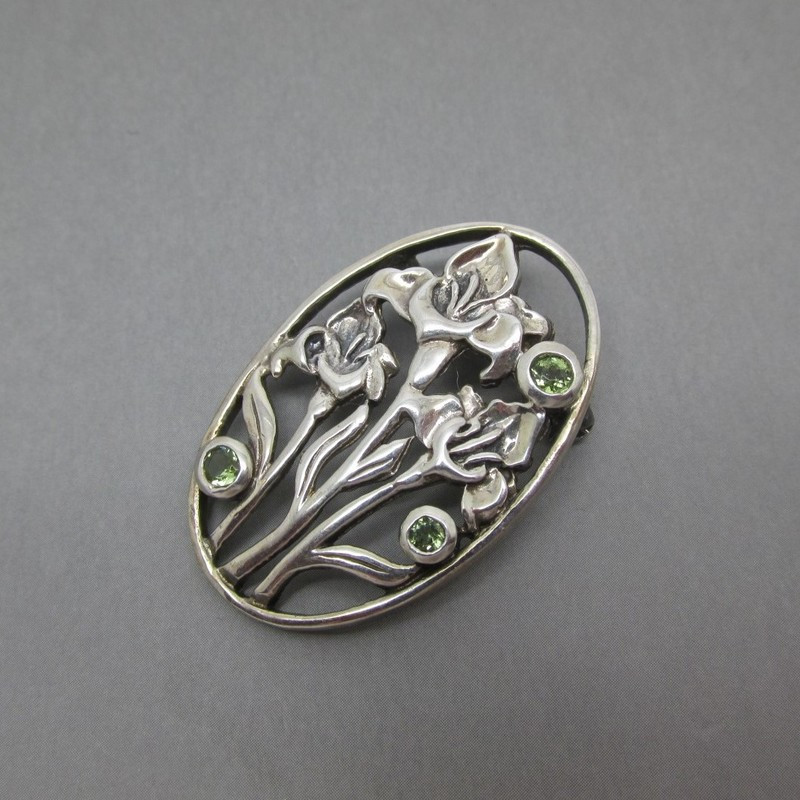 Metal Brooches  Mackintosh Style Sterling Silver Brooch UK