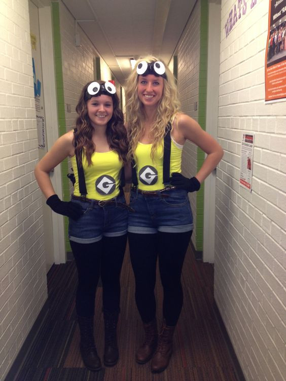 Minion Costume DIY Adults  60 Awesome Girlfriend Group Costume Ideas 2017