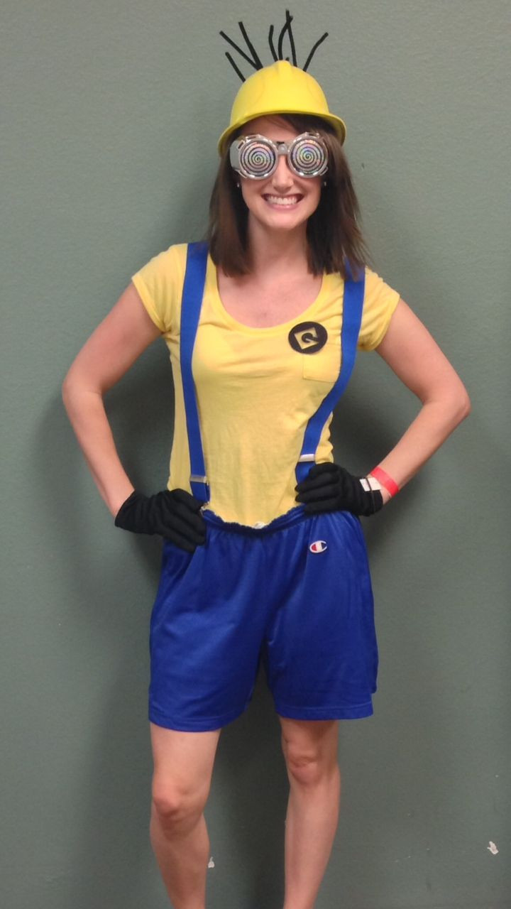 Minion Costume DIY Adults  DIY Minion Costume from Goodwill