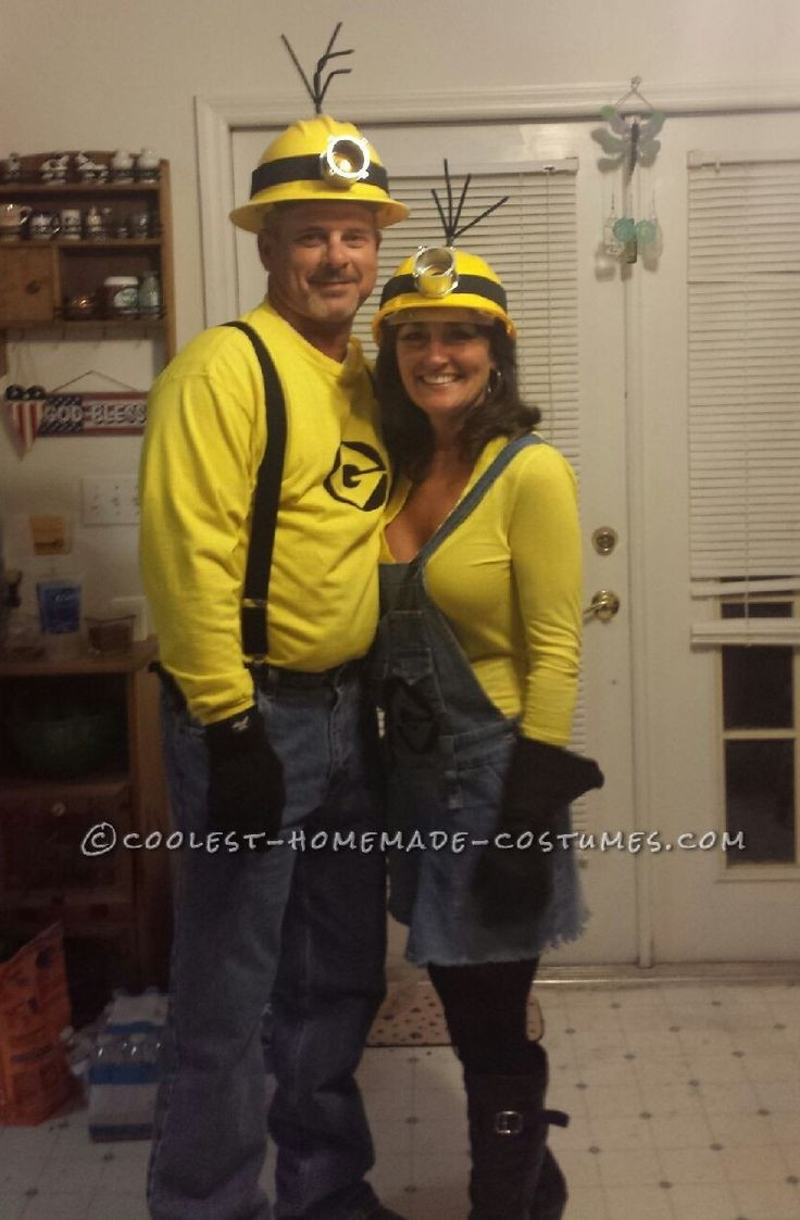 Minion Costume DIY Adults  Mellow Yellow Adult Minion Couples Costume
