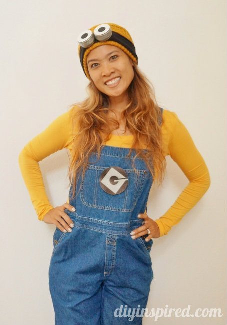 Minion Costume DIY Adults  Last Minute DIY Adult Minion Costume DIY Inspired