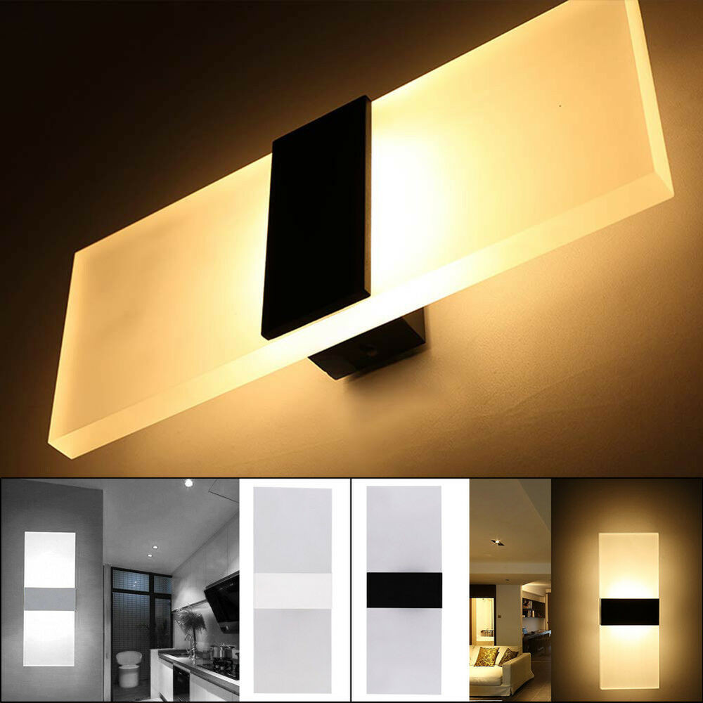 Modern Bedroom Sconces  Modern Acrylic LED Wall Sconces Bedside Lamp Fixture Home