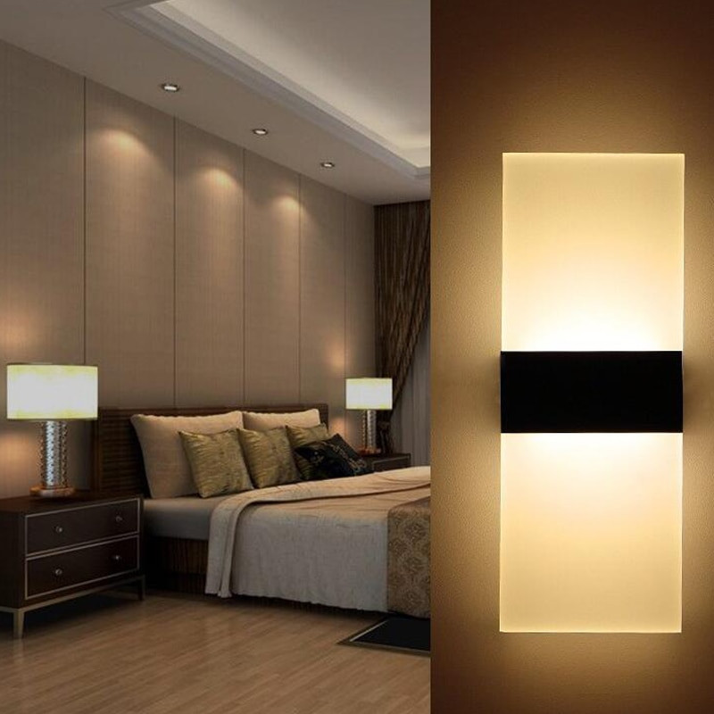 Modern Bedroom Sconces  Modern LED Wall Lamp Acryl Metal Home Lighting Bedroom