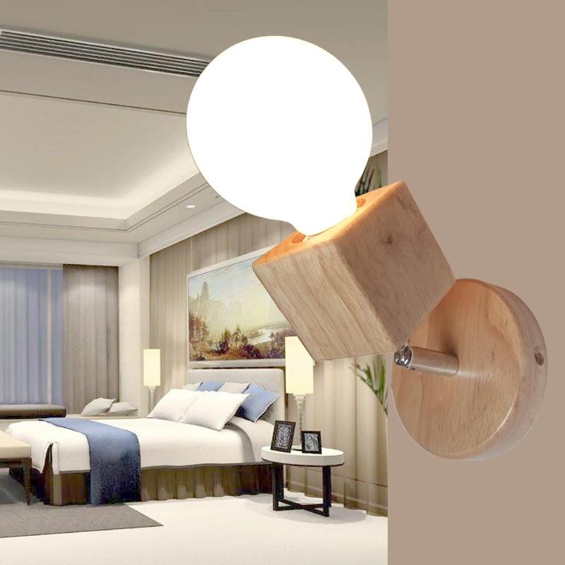 Modern Bedroom Sconces  Modern Wall Lamps Bedroom Wall Lights Oak Wood Adjustable