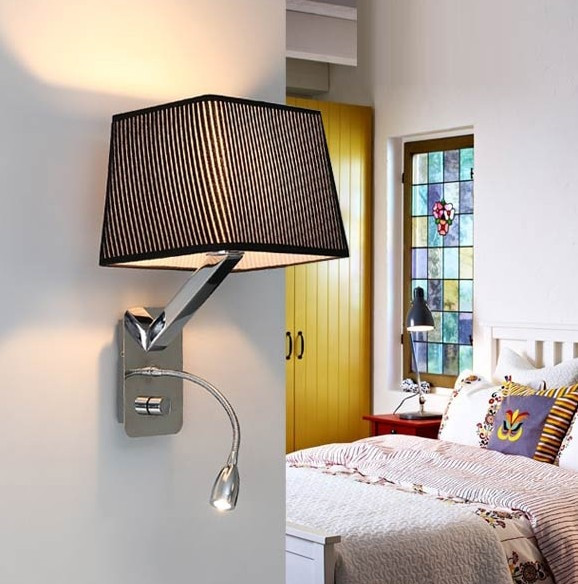 Modern Bedroom Sconces  Creative Fabric Wall Sconces Band Switch Modern LED