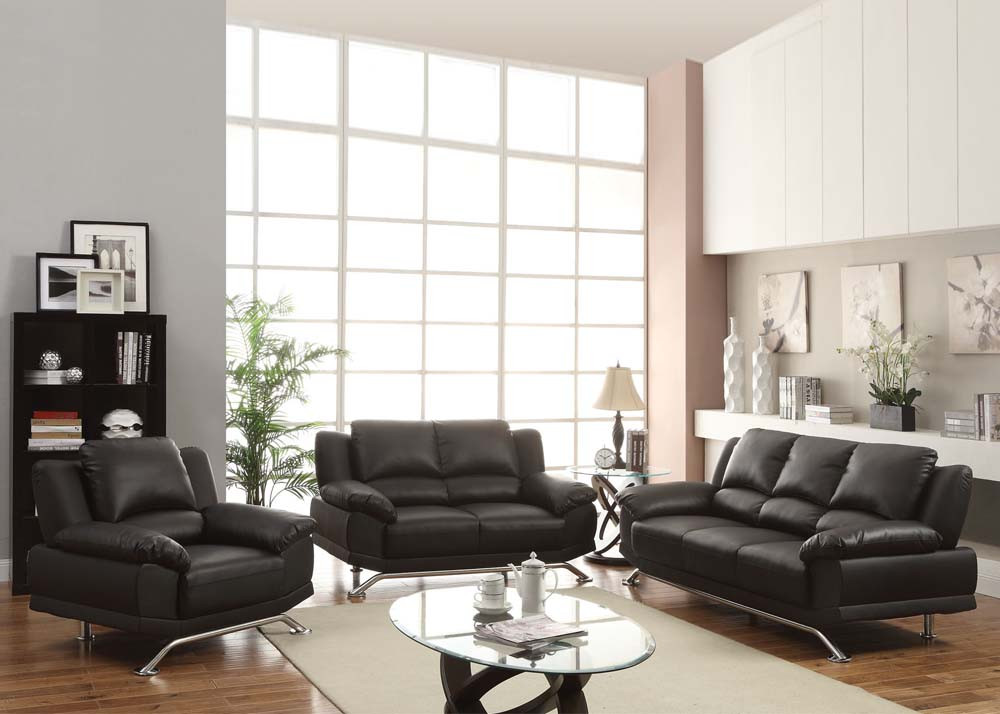 Modern Contemporary Living Room Furniture  Maigan Black Ultra Modern Contemporary Living Room