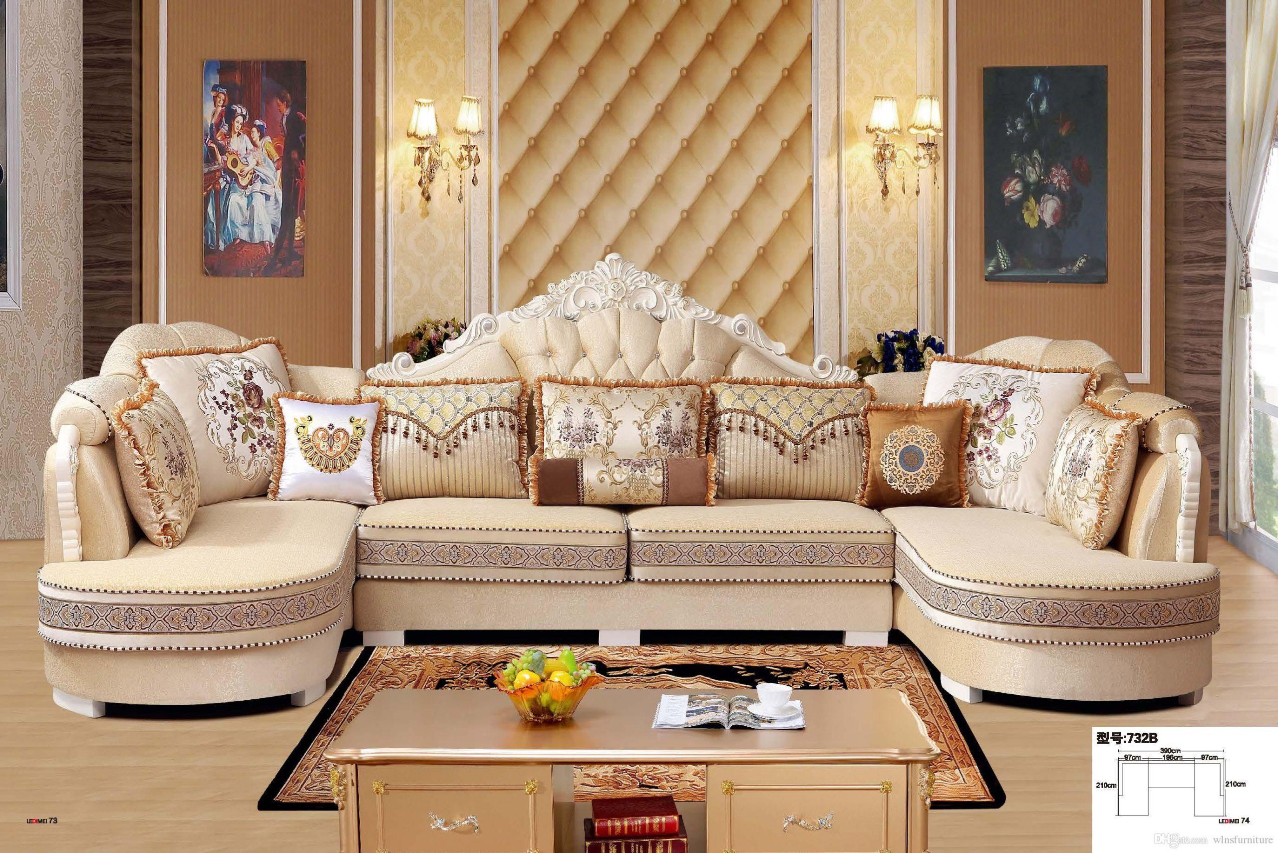 Modern Contemporary Living Room Furniture  2019 Modern Living Room Fabric Sofa L Shape Sectional Soft