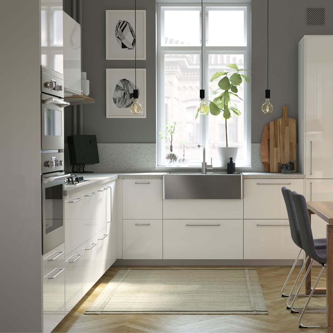 Modern Kitchen Cabinets Ikea  A modern bright and airy kitchen with wooden detail IKEA