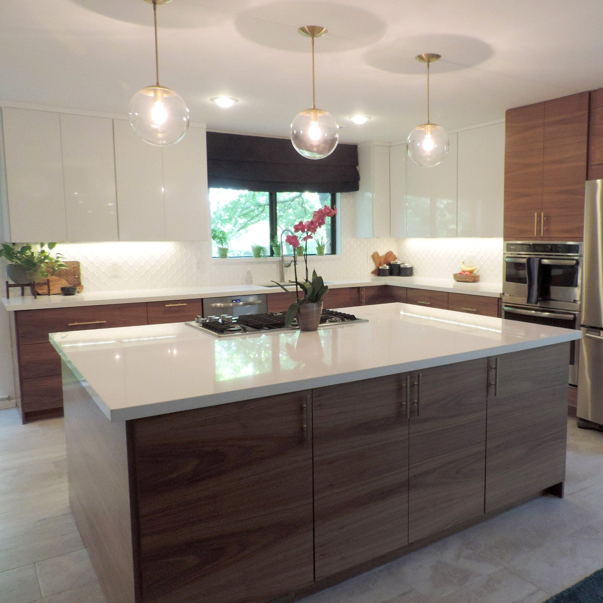 Modern Kitchen Cabinets Ikea  Walnut in 2020