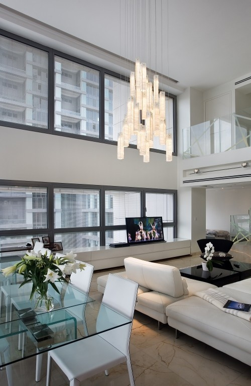 Modern Living Room Chandelier  Modern Luxury Living Rooms Ideas Decoholic