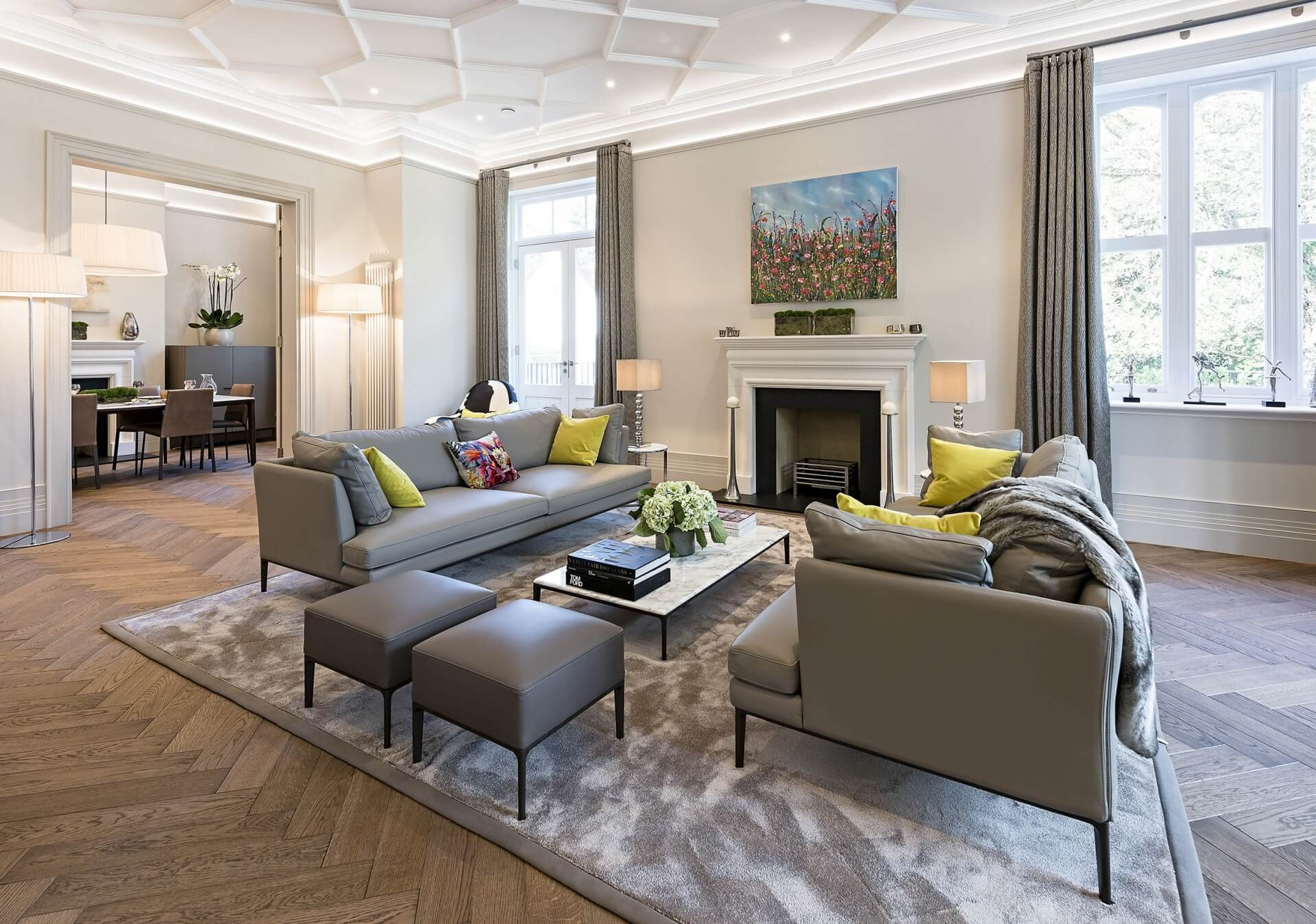 Modern Luxury Living Room  Modern Mansion Home Tour in the English Countryside