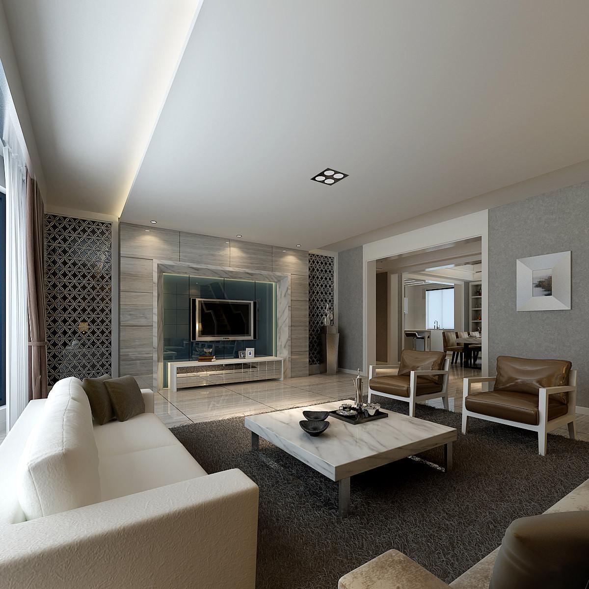 Modern Luxury Living Room  Modern Living Room With Luxury Furniture 3D Model x
