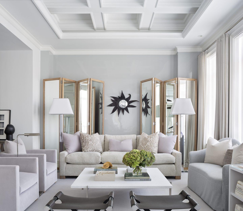 Modern Luxury Living Room  Luxury Living Room with Modern Floor Lamps in New York City