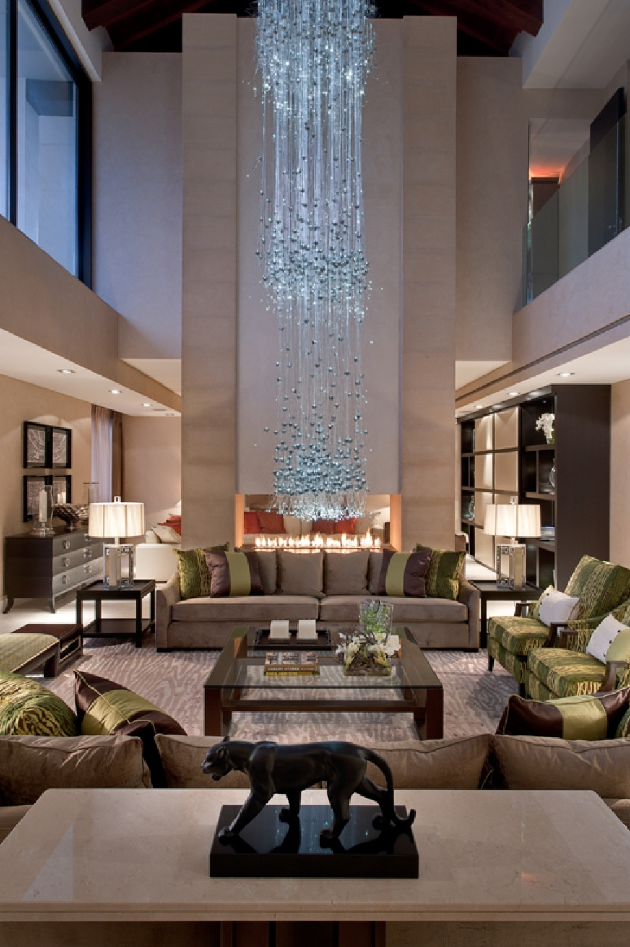 Modern Luxury Living Room  luxury chandeliers for living room