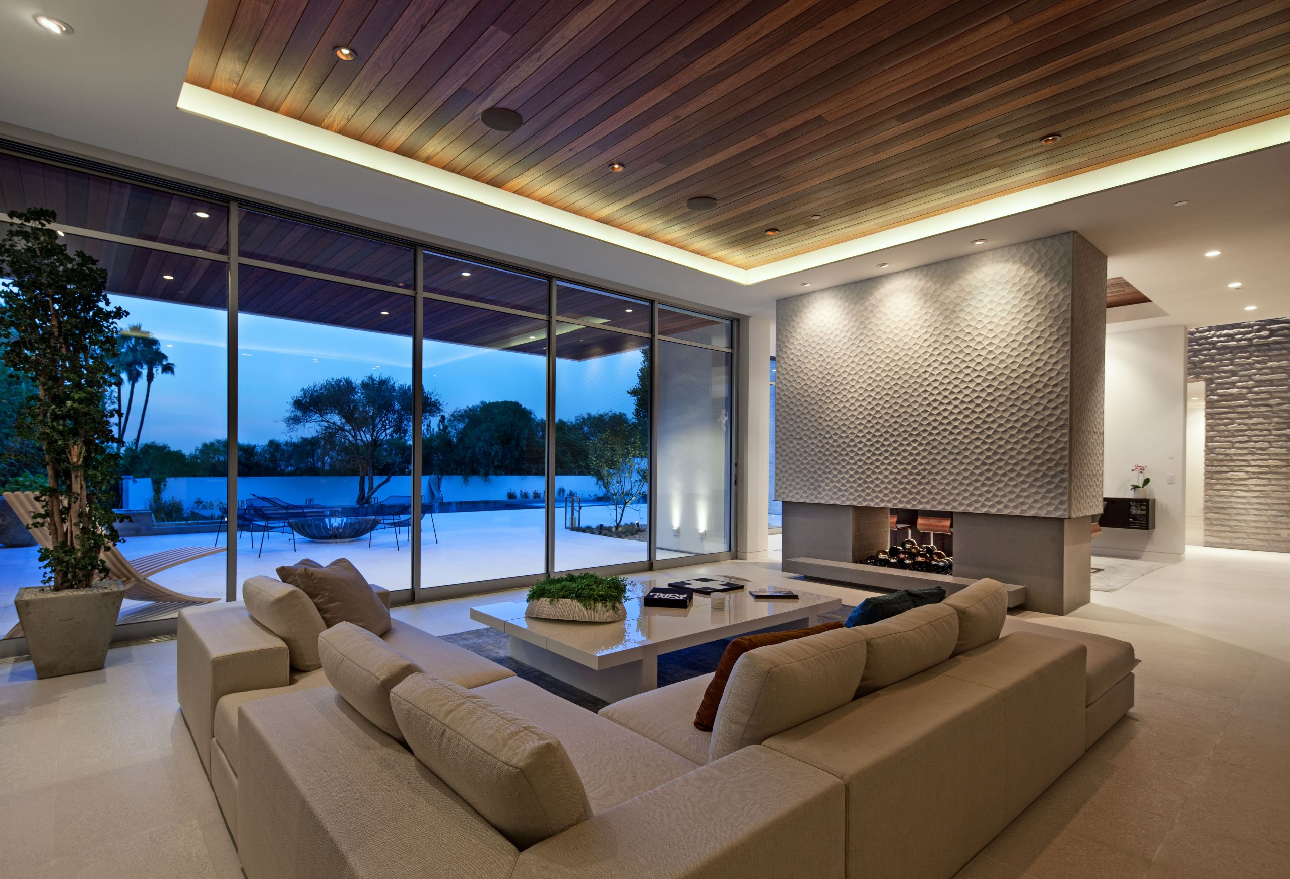 Modern Luxury Living Room  Contemporary Architecture and Interiors on Sunset Strip