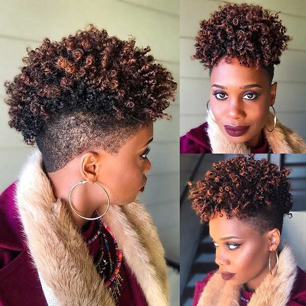 Mohawk Hairstyle For Natural Hair  51 Best Short Natural Hairstyles for Black Women
