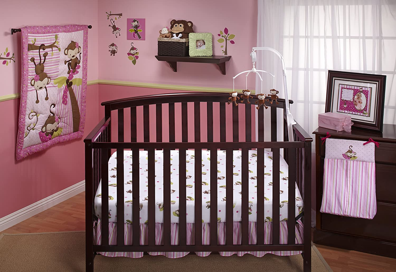 Monkey Baby Decor  Nojo 3 Little Monkeys Baby Bedding for Girls Baby
