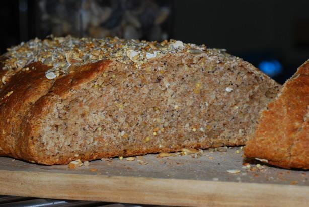 Multigrain Sourdough Bread  Soaked Multigrain Sourdough Bread Recipe Baking Food