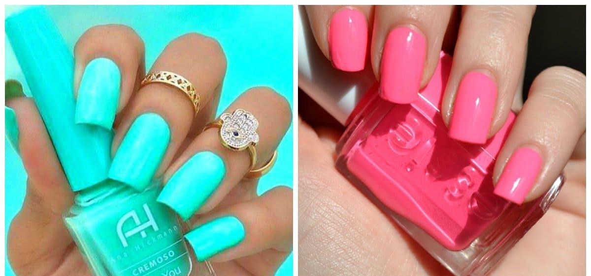 Nail Colors For Summer  Summer nails 2018 fashionable trends of summer 2018 nail