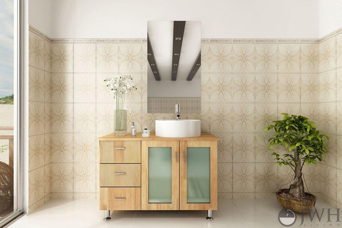 Natural Wood Bathroom Vanities  What is the Standard Height of a Bathroom Vanity