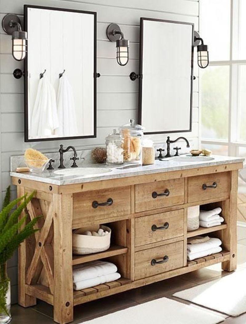 Natural Wood Bathroom Vanities  33 Stunning Rustic Bathroom Vanity Ideas Remodeling Expense