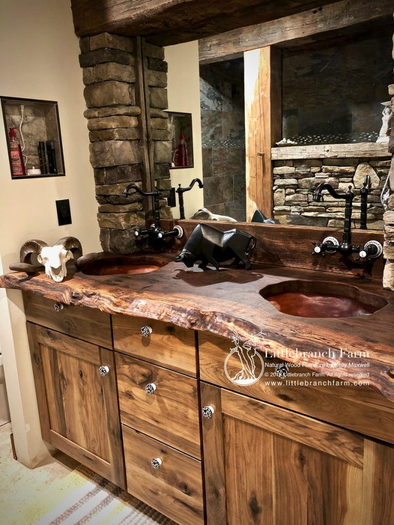Natural Wood Bathroom Vanities  Rustic Vanities rustic vanity floating bathroom vanity