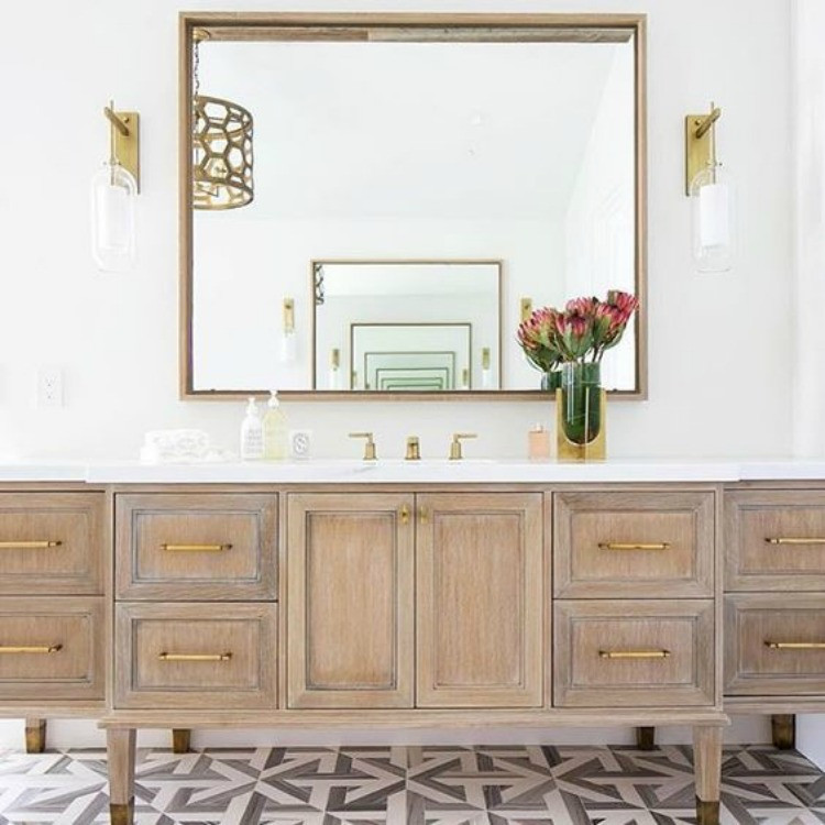 Natural Wood Bathroom Vanities  Three Design Trends I m Loving The House of Silver Lining