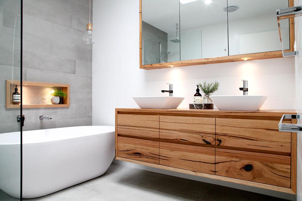 Natural Wood Bathroom Vanities  Solid Timber & Wooden Bathroom Vanities