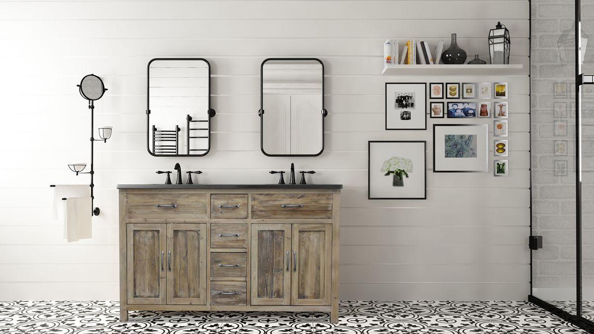 Natural Wood Bathroom Vanities  The Best Masculine Vanities for Modern Bathrooms