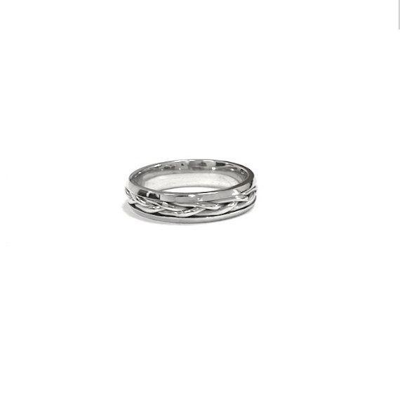 Nautical Wedding Bands  Platinum Wedding Band Women Wedding Ring Nautical by Nautigold