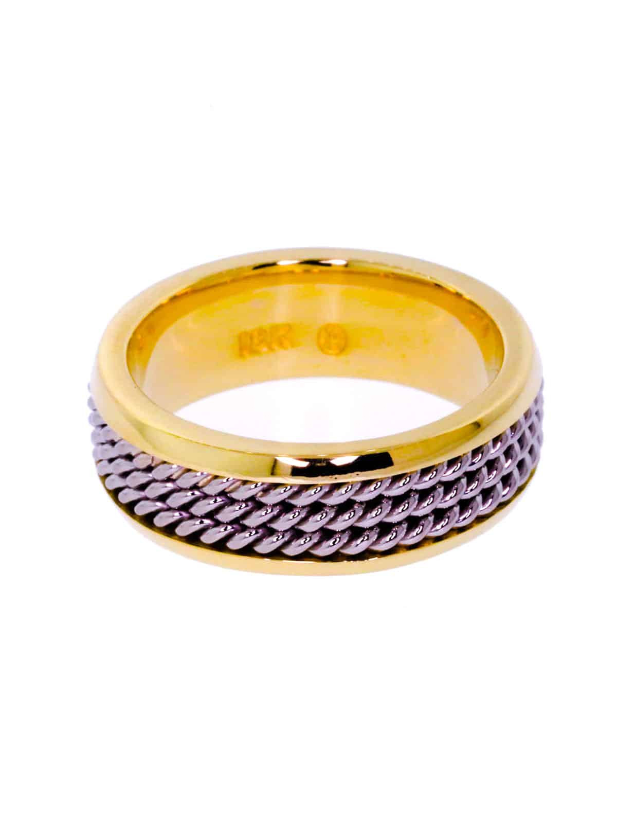 Nautical Wedding Bands  Gold Rope Wedding Band for Men