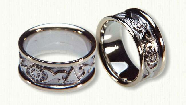 Nautical Wedding Bands  Catie s blog Check out the site for tons more wedding